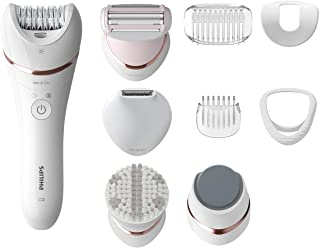 Philips Beauty Epilator Series 8000, 5 in 1 Shaver, Trimmer, Pedicure and Body Exfoliator with 9...