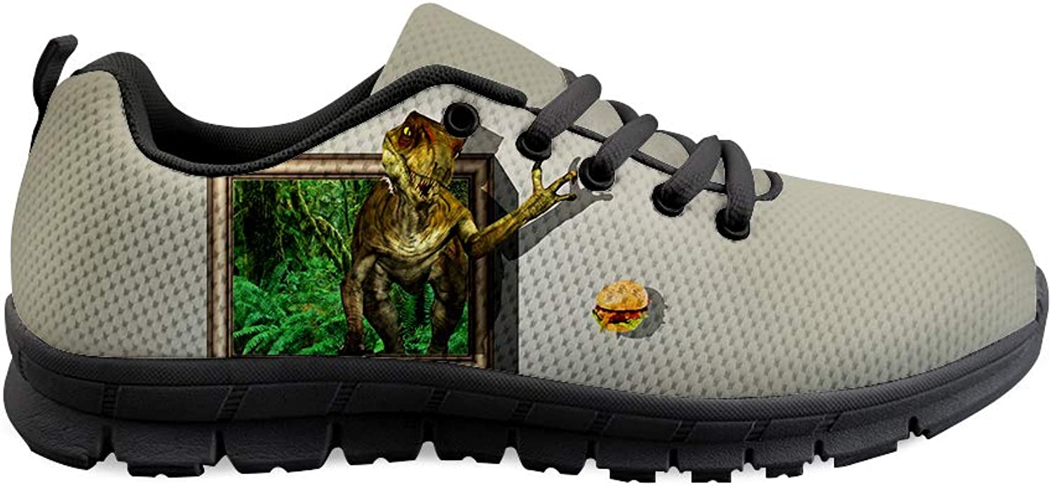 Owaheson Lace-up Sneaker Training shoes Mens Womens Jurassic Tyrannosaurus Rex Longing for Burger