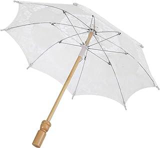 HERCHR Parapluie en Dentelle de mariée Mariage Parasol de mariée Parapluie pour Accessoires de Photographie Fournitures de...