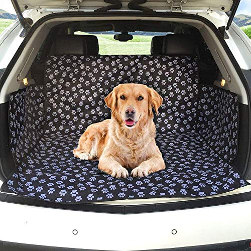 HyiFMY Pet Seats, Dog Bed Pet Car Mat, Dog Cart Boot Pad Waterproof Boot Protector Side Protection for Most Car SUV, 155 104 33cm