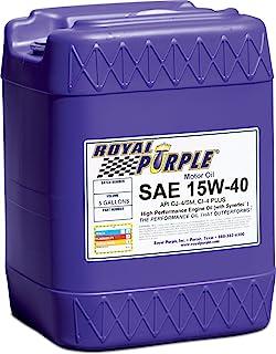 Royal Purple API-Licenciado SAE 15W-40 Óleo de motor sintético de alto desempenho - 1 jarro de galão