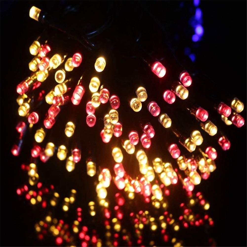 ZHANGY 22 200LED / 52M 500 LED Solar String Fairy Lights Waterproof Outdoor Garland Solar Power Lamp Christmas For Garden Decoration Multi color