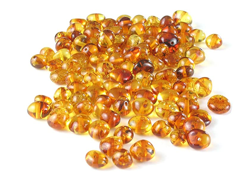 Honey Baltic Amber Beads, Polished Baroque 6-8 mm, 10 grams vubnpjeg616240
