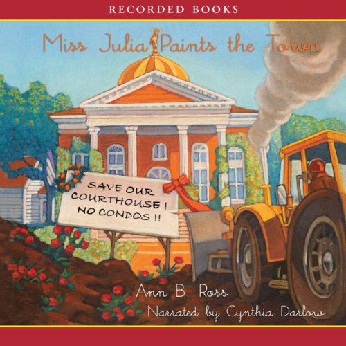Miss Julia Paints the Town audiobook cover art