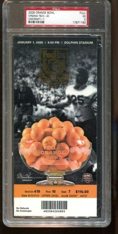 2009 Orange Bowl Full Ticket Virginia Reservation Hokies Cincinnati P v Be super welcome Tech