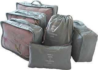 حقيبة منظمة للسفر مكونة من 6 قطع لتنظيم الأمتعة بتغليف مرتبة ومنظمة