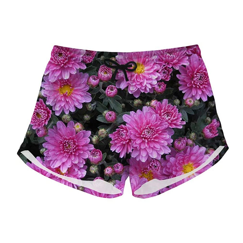 Volleyball Shorts Womens Swim Trunks Quick Dry Floral Beach Shorts for Teens