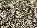 147,3cm breit Animal Print Polyester Velboa Stoff