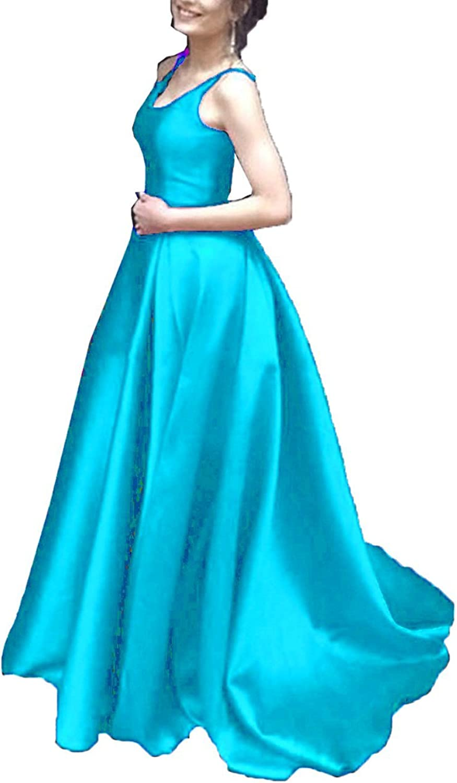 TTdamai Women's Elegant VNeck Aline Prom Dresses 2018 Ball Gowns Evening Dress