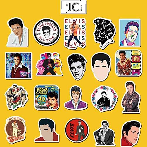 YUHANG Rock singer Elvis Graffiti Sticker Computer Suitcase Waterproof Sticker 50pcs