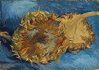 Wieco Art Sunflowers Floral Giclee Canvas Prints Wall Art by Vincent Van Gogh Famous Oil Paintings Reproduction Modern Stretched and Framed Artwork Flowers Pictures for Bedroom Home Decorations