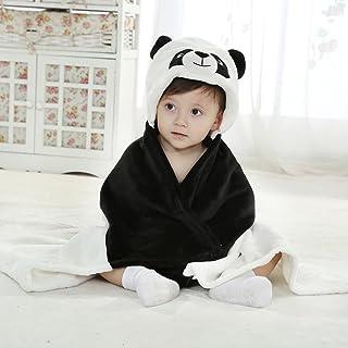 エルフ ベビー(Fairy Baby) パンダ模様ベビーバスローブ ポンチョ バスタオル フード付き お風呂 着ぐるみ ワンサイズ