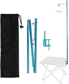 Yorten Collapsible Lantern Stand Pole Lightweight Portable Outdoor Camping Fishing Lamp Hook Rack