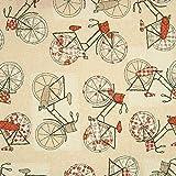 Dekostoff Fahrräder - Preis gilt für 0,5 Meter