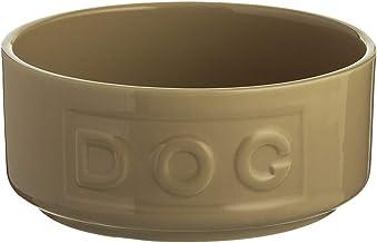 Mason Cash Cane Lettered Stoneware Dog Bowl, 400ml, Beige 28483