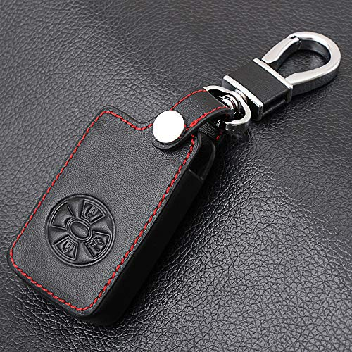BYSDSG for 3 Tasten Auto Smart Key Cover Fall Halter for Toyota RAV4 2009 2011 RAV 4 Yaris 2011 Keys Keychain Ledertasche mit Schlüsselring
