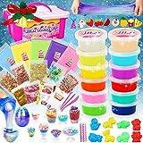 Dookey Kit de Slime, DIY Slime Set, Activador Slime para Hacer Kit Slime, Crystal Slime con Galaxy Slime Huevos, Regalo para Niñas y Niños en Navidad / Fiesta (12+5colores)