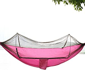 Daioy Hammock Camping Hammock Outdoor Swing Cradle Mosquito Net Hanging Chair Home Dormitory Bedroom Net Bed Student Mosquito Mosquito Net Hammock  Rose Red