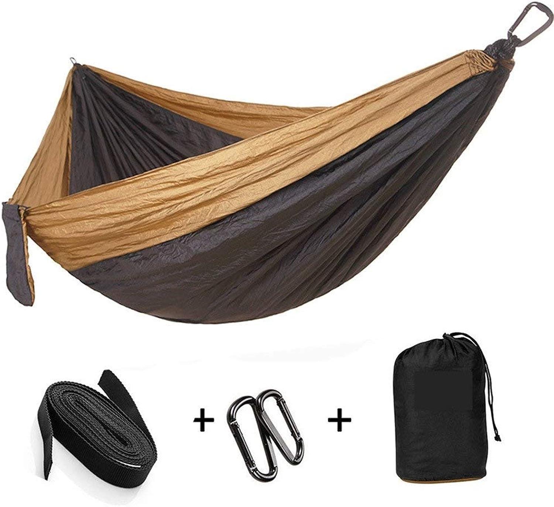 MSchunou Single & Double Camping Hammock with Hammock Tree Straps,Portable Parachute Nylon Hammock for Backpacking Travel