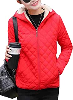 ZXFHZS Womens Classic Fit Long Sleeve Thicken Coats Hooded Windproof Puffer Jacket