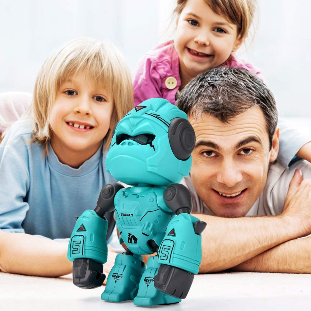 Blue Birthday Gift ALLCELE Alloy Gorilla Toy for Kids,Interactive Robot Toy Gorilla Robot Toys for boy /& Girl Over 3 Year Old Touch Control,LED Eyes