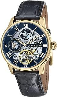 ES-8006-05 Mens Longitude Black Croco Leather Strap Watch