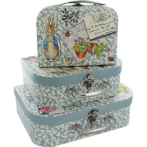 Beatrix Potter Peter Rabbit Storage Suitcases - Set of 3