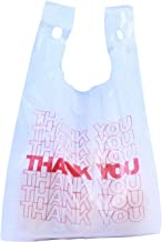 R Noble Thank You Reusable Grocery Plastic Bags, 1/6, 15mic, 600 Count