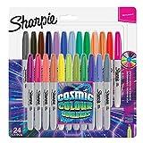 Sharpie rotuladores permanentes, punta fina, color cósmico, edición limitada, 24unidades