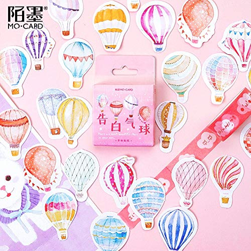 Mohamm 46 Stück Boxed Aufkleber Werbung Luftballons Aufkleber Handbücher Fotoalben Dekorative Siegel