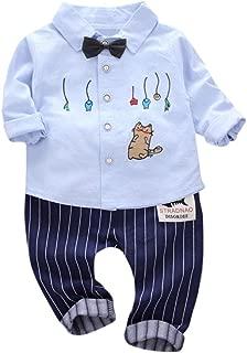 iFRich Ensemble Bebe Garcon Hiver Vetement b/éb/é gar/çon Naissance Printemps Pas Cher Manteau Enfant gar/çon Imprim/é Blouse Chemise Haut t Shirt Sweat Fille a Capuche Pantalons