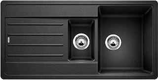 BLANCO LEGRA 6 S – Rechteckige Granitspüle aus SILGRANIT mit Restebecken für 60 cm breite Unterschränke – grau – 522207