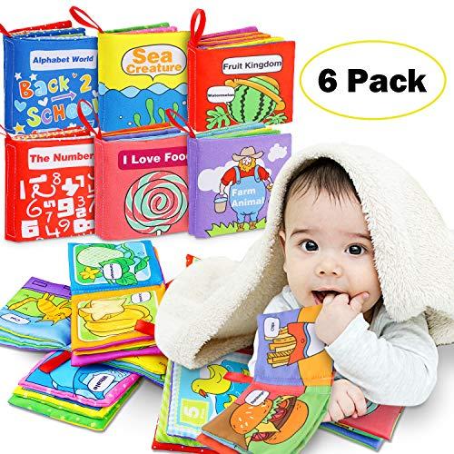 Libro Blando de Bebé, Libro Activity Tejido Blando Papel del Bebé Juguete para Bebé Recién Nacido Entretenimiento Aprendizaje Educativo - 6 Piezas