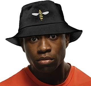Unisex Manchester Bee Washed Cotton Bucket Hat Original Summer Boonie Cap Fishing Hats