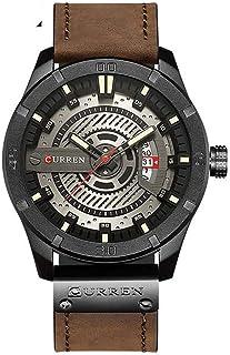 カレンブランドメンズ腕時計レザーストラップ防水スポーツクォーツ時計メンズ