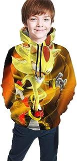 guoweiweiB Sudadera Juvenil con Capucha Teen Boys Girls 3D Printed Novelty Hoodies Shadow The Hedgehog Sonic Sweatshirts P...