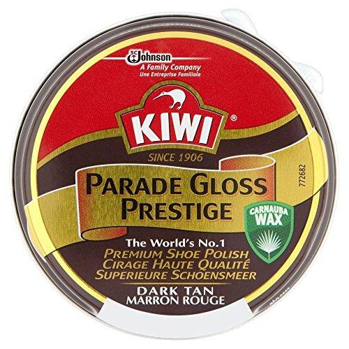 KIWI Kiwi Parade Gloss Prestige Schuhcreme - Dark Tan (50 ml) - Packung mit 6