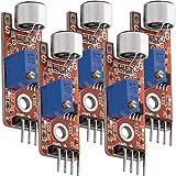 AZDelivery 5 x KY-037 Micrófono detección de sonido de alta sensibilidad módulo grande para Arduino con eBook incluido