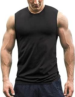 Men's Workout Tank Top Sleeveless Muscle Shirt Cotton Gym Training Bodybuilding Tee