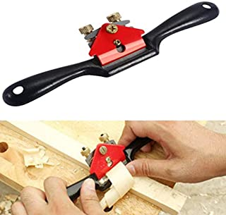 Accessbuy 9'' Adjustable SpokeShave with Flat Base and Metal Blade for Wood Craft, Wood Craver, Wood Working and Hand Tool