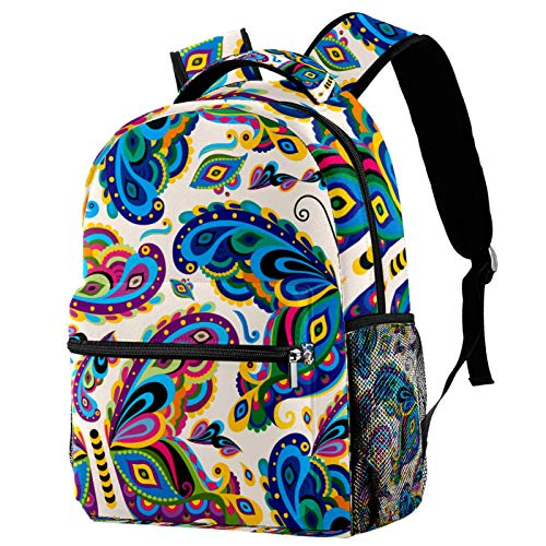 Colorful Butterfly Insect Pattern Backpack for Teens School Book Bags Travel Casual Daypack