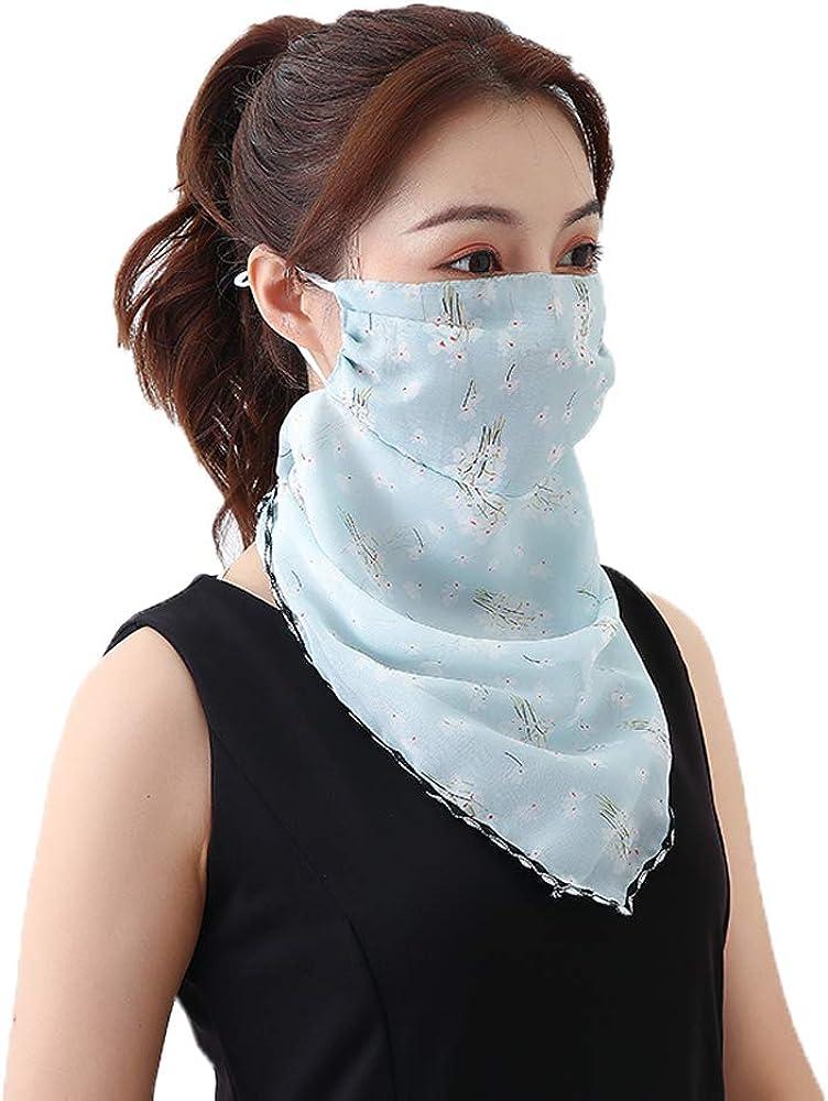 Face Shield WOO GIRL 2 in 1 Chiffon Schal Halstuch /& Community Maske in einem mit intergrierter Mund-Nasen Bedeckung