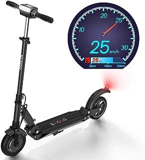 S1 plegable Scooter eléctrico 350W Motor LCD Pantalla: 3 modos de velocidad 8 pulgadas sólido neumático trasero 18 Miles de largo alcance adultos scooter con luz LED y plegable Manillar, Nombre de col