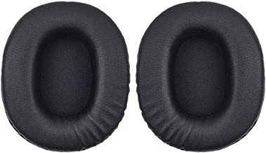 Replacement Ear Pads Cushion Muffs Earpads Parts Compatible with Sony MDR-7506, MDR-V6, ATH-M50 S M20 M30 M40 ATH-SX1 Headphones. (Smooth Leather)