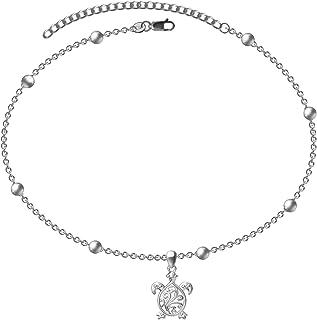Fashband Bracelet de cheville en forme de coquillage Dor/é