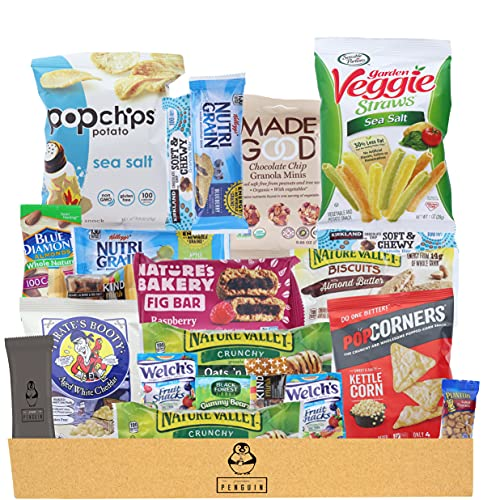Premium Penguin Healthy Snacks Care Package - (20 Count Variety Snack Pack) An Assortment of...