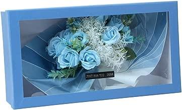 Scrafts Blue Scented Bath Soap Multiple Rose Petals Bouquet Big Gift Box Set