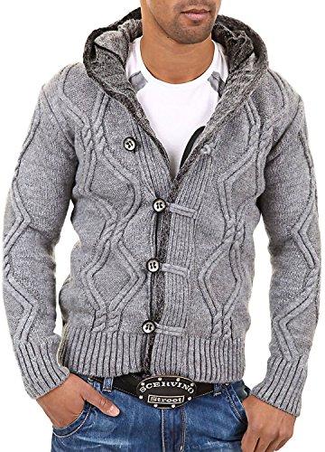 CARISMA Strickjacke Jacke Pullover 7013 [Grau, 4XL]