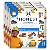 The Honest Company Toddler Training Pants, Construction Zone, 3T/4T, 92 Count, Eco-Friendly, Underwear-Like Fit, Stretchy Waistband & Tearaway Sides, Perfect for Potty Training