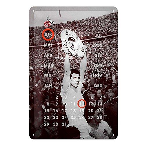 1. FC Köln Blechschild Meisterschale